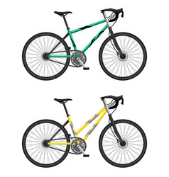Mtb hardtail bicycles set vector