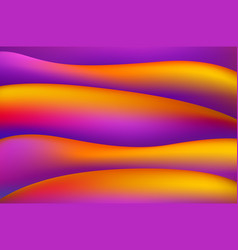 orange and pink magenta colorful smooth twist vector image