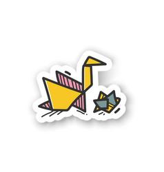 Origami hobsticker vector
