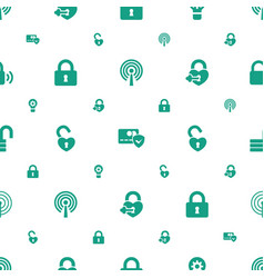 padlock icons pattern seamless white background vector image