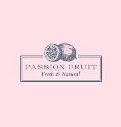 Passion fruit abstract sign symbol or logo vector