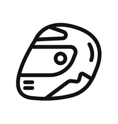 racing helmet icon motorcycle helmet symbol vector image