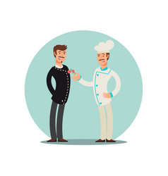 Restaurant team cartoon character chef and vector