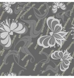 Seamless grunge flower texture 524 vector image