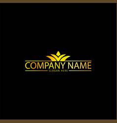 Simple golden business logo vector