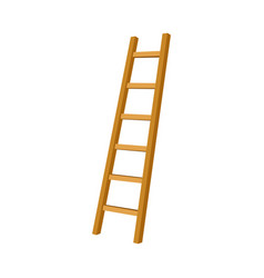 Simple step ladder leaning to the right side vector