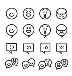 Smile line icon vector