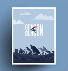 snowboarding season is coming vector image