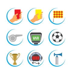 soccer icon set football icon set vector image