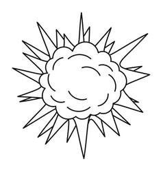 Spica icon outline style vector