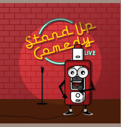 Stand up comedy vaporizer theme vector