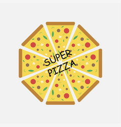 super pizza logotype vector image