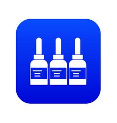 Three tattoo ink bottles icon digital blue vector