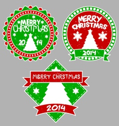 tree xmas badges vector image