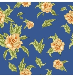 Vintage wallpaper seamless pattern with yellow vector image vector image