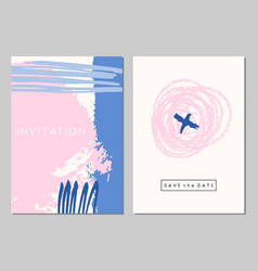 wedding stationery set vector image
