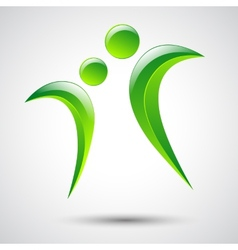 Abstract human figures logo template vector image vector image