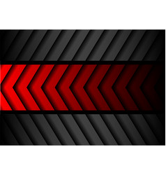 Abstract red gray arrow pattern black vector