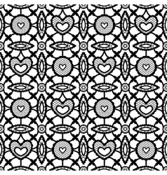black seamless lace vector image vector image