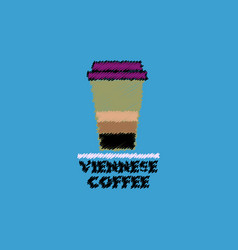 Flat icon design collection viennese coffee to go vector