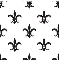 fleur de lis black pattern on white vector image vector image
