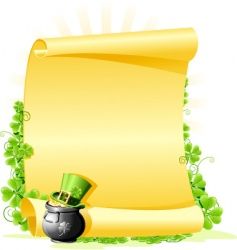 St. Patrick's Day blank Letter vector image vector image
