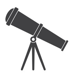telescope silhouette vector image vector image