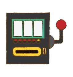 casino slot machine vector image vector image