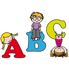 learning the alphabet vector image vector image