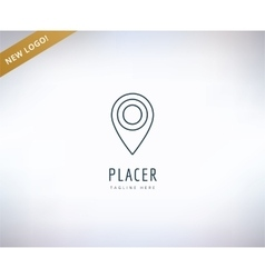 Map marker on the map icon element Place travel vector image vector image