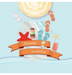Summer Is Coming poster or card design vector image vector image