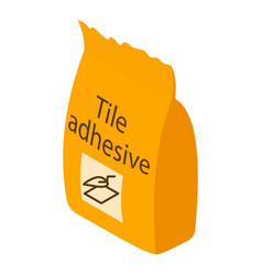 tile adhesive icon isometric 3d style vector image