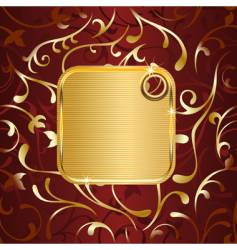golden tag vector image vector image