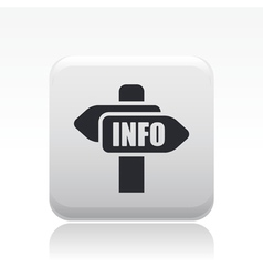 info direction icon vector image