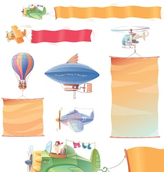 Planes with Banners vector image vector image