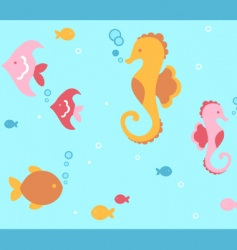 undersea animals vector image