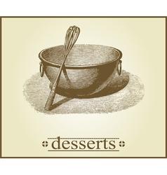dessert cover design vector image vector image