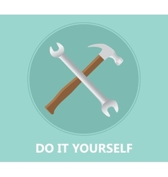 diy do it yourself icon with screwdriver and vector image