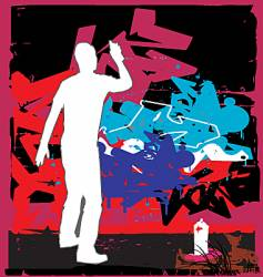 grafitti vector image vector image