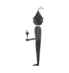 Man with wine icon design vector