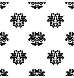 Retro seamless damask pattern vector image