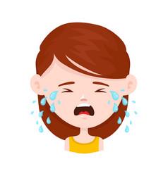 women young girl crying flat vector image