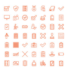 49 check icons vector image