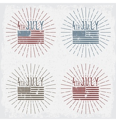 4th july american independence day grunge set vector