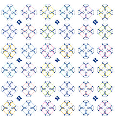 abstract colored pattern in ornamental style vector image