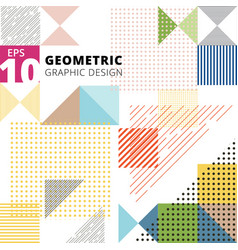 abstract multicolor geometric pattern trendy vector image