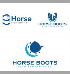 Accounting financial horseshoe chart logo design vector