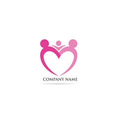 Adoption community care logo template vector