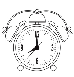 Alarm clock recovery for the appointed time vector image
