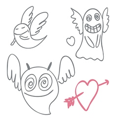 Amusing ghosts vector